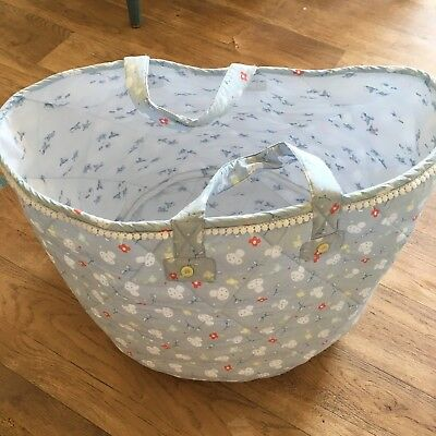 Fabric Storage Toy Basket Bag Childrens Room Little Bird Jools Oliver Mothercare