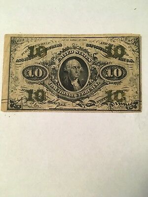 1863 Fractional Currency 10 Cent Third Issue