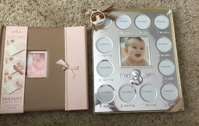 Hallmark Baby Book Carters First Year Silver Frame Bnwt Lot