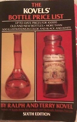 1984 The KOVELS BOTTLE Price List Price Guide Hardcover Book 6th Edition