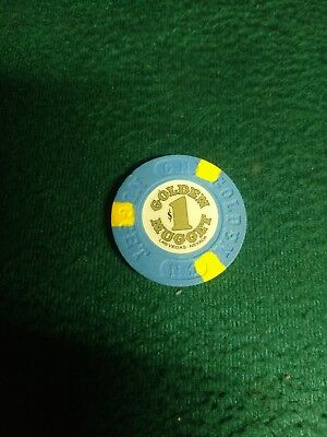 $1 Las Vegas Golden Nugget 15Th Edt Casino Chip House Mold Downtown