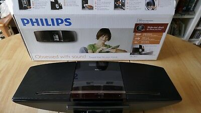 Philips CD Sleek Micro Music System dock iPhone/iPod USB Direct MP3 Remote