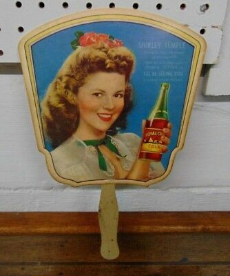 Reprint Of Shirley Temple/royal Crown Cola Ad On A Hand Fan