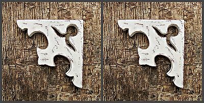 Farmhouse Decor Shabby Chic Victorian Wooden Corbel Brackets Rustic 1 x Pair