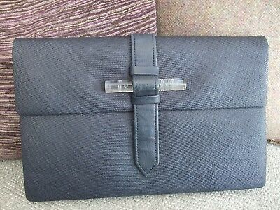 VINTAGE CHRISTIAN DIOR CLUTCH BAG with LUCITE HANDLE