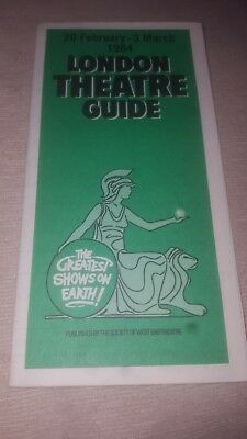 1984 London Theatre Guide and Entertainment Guide 20 February 3 March