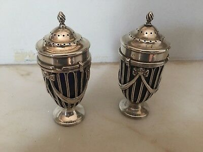 PAIR OF ANTIQUE NEO-CLASSICAL THEMED SALT & PEPPERS- HASSLER Bros. & T.S.C