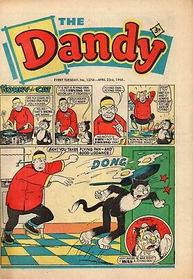 THE DANDY COMIC EVERY TUESDAY NO. 1274 April 23rd 1966 in VG condition