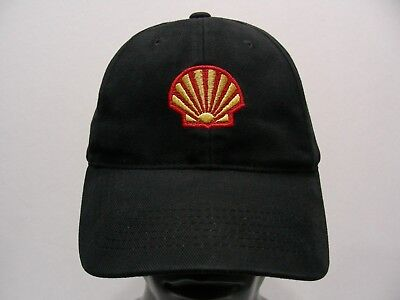 Shell - Black - One Size Adjustable Strapback Ball Cap Hat!