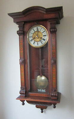 Superb Mid-Sized Decorated Chiming Vienna Wall Clock-HAC -Circa 1900