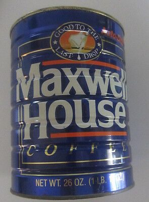 Vintage Maxwell House 26oz Coffee Can...No Lid.....d