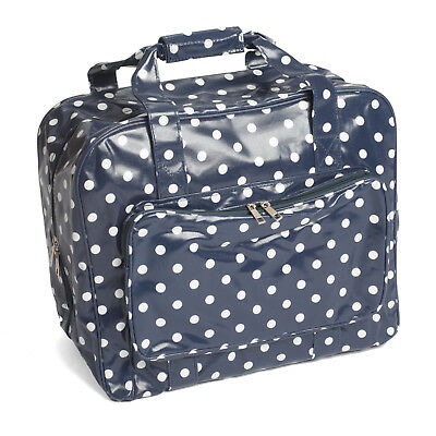 Brand New Navy Polka Dot Sewing Machine Premium Carry Storage Bag MR466032