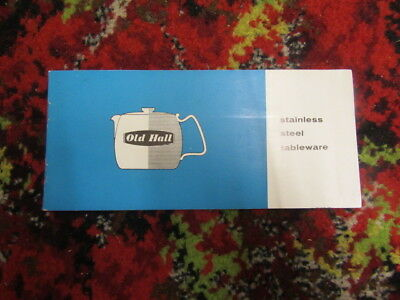 Old Hall stainless steel  tableware vintage leaflet