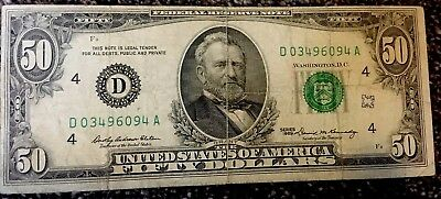 1969 $50 Federal Reserve Bank Note