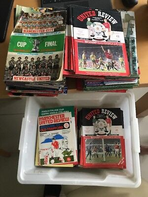 150+ Manchester United Programmes (1968 onwards) and 50+ others. Some big games