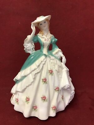 ROYAL WORCESTER Small PORCELAIN FIGURINES Fashionable Victorians LADY SARAH