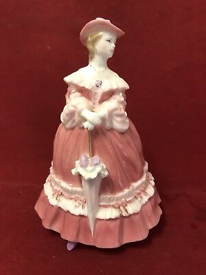 ROYAL WORCESTER Small PORCELAIN FIGURINES Fashionable Victorians LADY EMMA