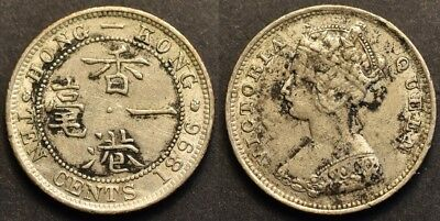 Hong Kong, 10 Cents 1896