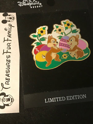 Disney LE Pin DLR Chip & Dale Easter 2002 Eggs FREE SHIP