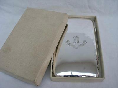 Superb Sterling Silver Cigarette Case Retailed By Elkington & Co Chester 1911.