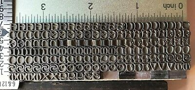 MISSAL Initials 12 pt - metal foundry letterpress type - Caps only - Rare