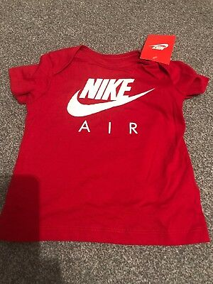 Bnwt Baby Boys Red Nike T-Shirt Top Age 18/24 Months