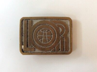 Mabuckle Lindsey Oil Refinery Brass Belt Buckle  -Oilfield-