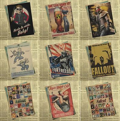 NEW ! FALLOUT 4 Home Wall Decoration Vintage Posters A 4 FREE SHIPPING