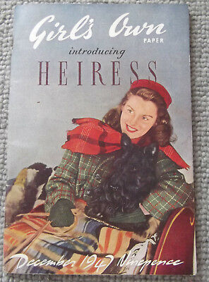 Rare, Vintage Girl's Own Paper From 1947 - Features / Fashion / Adverts, Etc