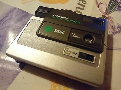 Vintage Dixons Sharpshooter Disc Camera Film Prop Great Condition