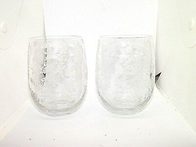 "Lot Of 2 Vintage Cambridge Rose Point 4 1/4"" Flat Bottom Tumblers Glasses"