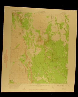 Jellico California 1959 vintage USGS Topographical chart map