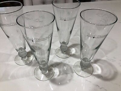 Black Diamond Ranch set of 4 footed beer glasses