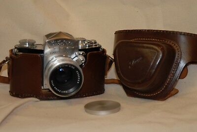 Exakta Varex IIa with 58mm f2 Zeiss Biotar and leather case