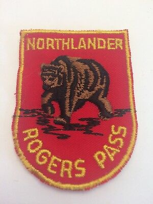 New Vtg Northlander Rogers Pass BC Sew On Patch British Columbia Canada Motel