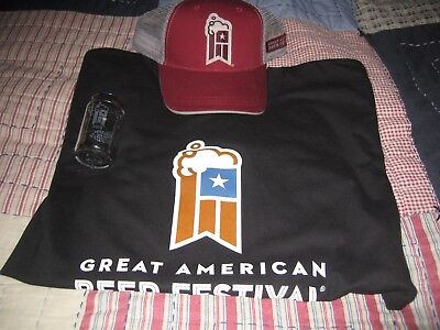 NEW! GABF Great American Beer Festival T-Shirt Brewers Hat Taster Glass