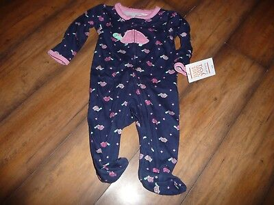 NEW NWT Carters girls size newborn adorable turtle sleeper