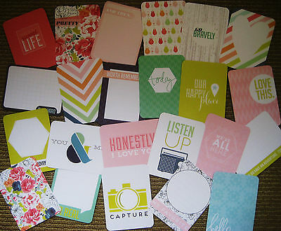 """'SEPTEMBER SKIES' PROJECT LIFE CARDS BY BECKY HIGGINS -3"""" X 4"""" -23 cards"""
