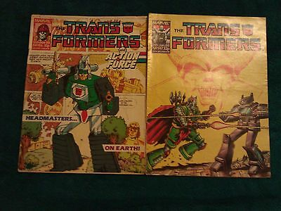 Transformers G1, 4 comics no 156, 147, 188, 158 from the 80s