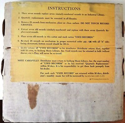 Seeburg 1000 INDUSTRIAL Library (7 records) Dated July 1, 1972 Still Sealed!