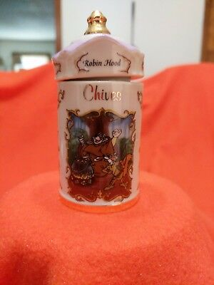 "Lenox Walt Disney Spice Jar ""Robin Hood"" Jar and Lid"