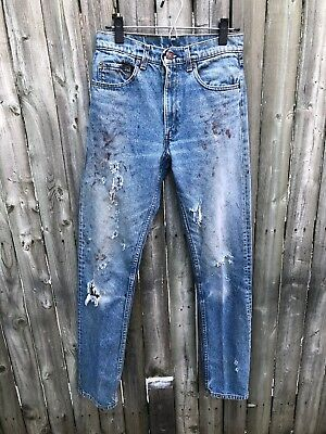 Vintage Levis 505 Denim Jeans 30x36 Made in USA Grunge Actual 30x33 Distressed