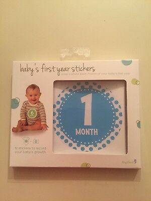 Baby Boy's First Year Stickers 12 Months by Tiny Ideas BRAND NEW