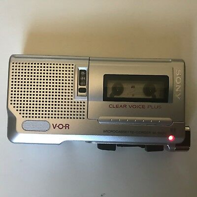 Sony M-560V Microcassette Recorder Tested VOR Clear Voice Plus Used Working