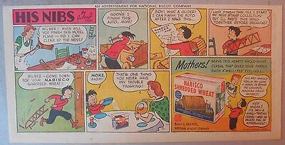 Nabisco Cereal Ad: His Nibs by Roland Coe Shredded Wheats 1930's-1940's