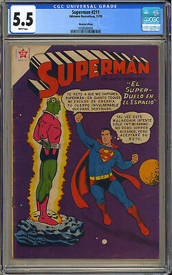 Action Comics #242 (Mexican) RARE 1st App. Brainiac Superman DC 1959 CGC 5.5