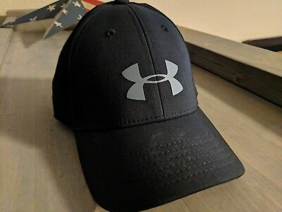 Under Armour Black Cap Hat Boy's Youth Sm/md Small Medium