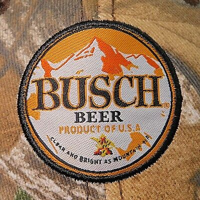 BUSCH BEER Hat Realtree Camo Hunting Ball Cap Trucker Snapback