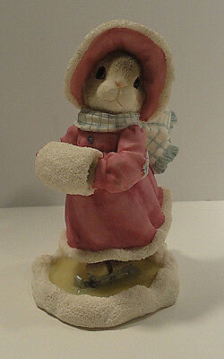 """Blushing Bunnies """"Love Will Never Let you Fall"""" Figurine Enesco 1996"""