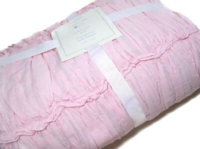 NEW Pottery Barn Kids Baby Ruched Voile Nursery Crib Toddler Quilt PINK